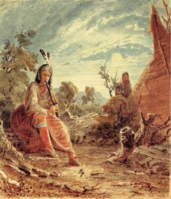 Indians in Camp   Seth Eastman   oil painting