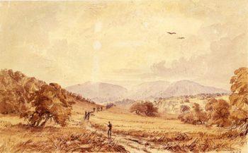 View in Texas Miles North of San Antoniio   Seth Eastman   oil painting