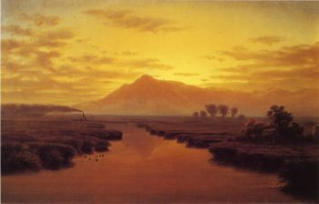 Mount Tamalpais from Napa Slough   William Marple   oil painting
