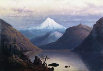Mount Hood from the Columbia River | William S Parrott | oil painting