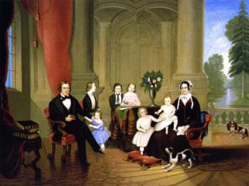 Brigham Young and His Family | William Warner Major | oil painting
