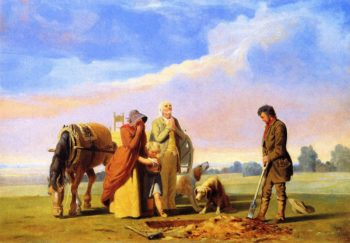 Prairie Burial | William Tylee Ranney | oil painting
