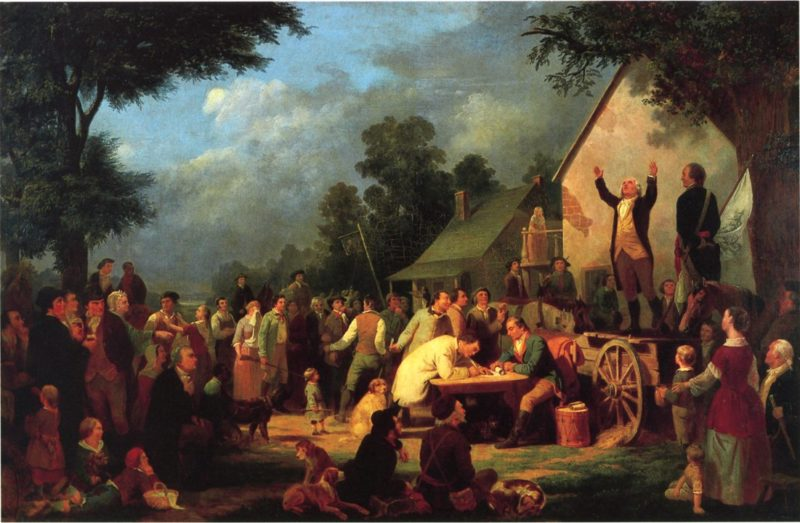 Recruiting for the Continental Army | William Tylee Ranney | oil painting