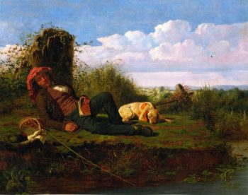 The Lazy Fisherman | William Tylee Ranney | oil painting