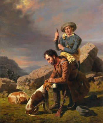 The Wounded Hound | William Tylee Ranney | oil painting