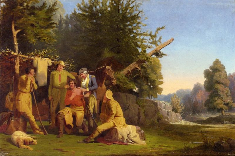 The Wounded Scout   William Tylee Ranney   oil painting