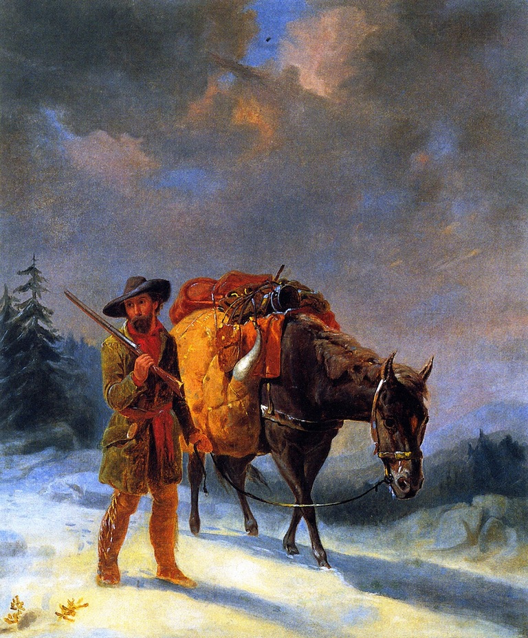 Trapper Crossing the Mountains | William Tylee Ranney | oil painting