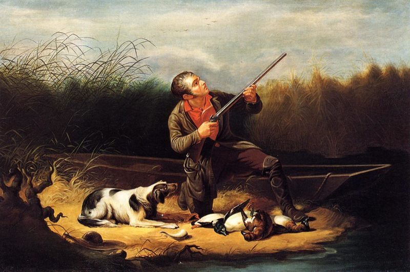 Wild Duck Shooting On the Wing | William Tylee Ranney | oil painting