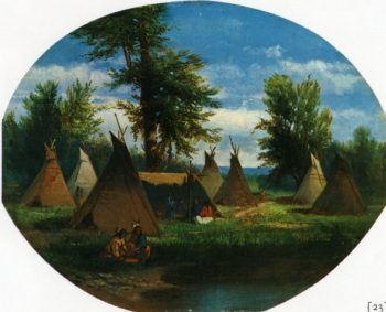 Assiniboin Camp | John Mix Stanley | oil painting