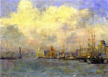 The Pool of London | Frederick McCubbin | oil painting