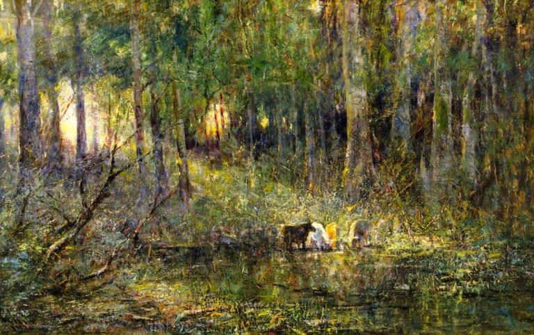 Violet and Gold | Frederick McCubbin | oil painting