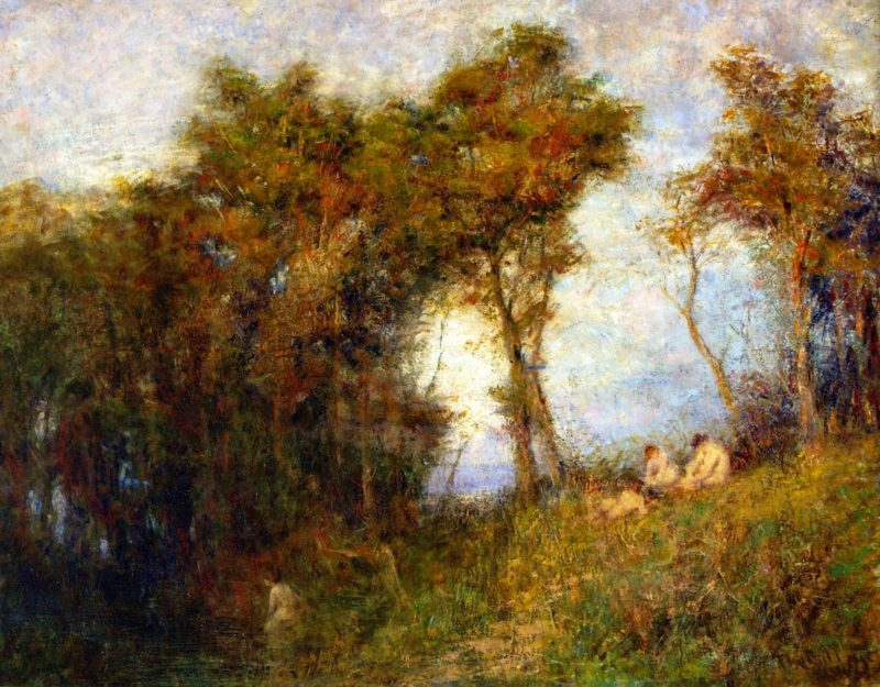 Summer Evening   Frederick McCubbin   oil painting