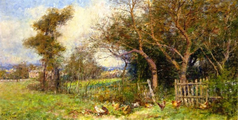 Autumn Morning South Yarra   Frederick McCubbin   oil painting