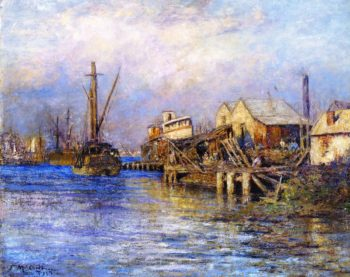 The Old Slip Williamstown | Frederick McCubbin | oil painting