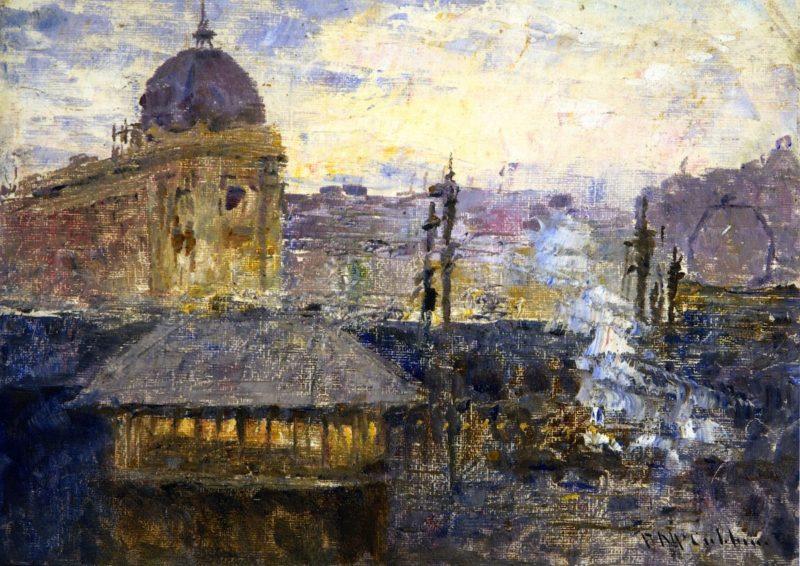 Flinders Street Railway Station | Frederick McCubbin | oil painting