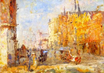 Collins Street | Frederick McCubbin | oil painting