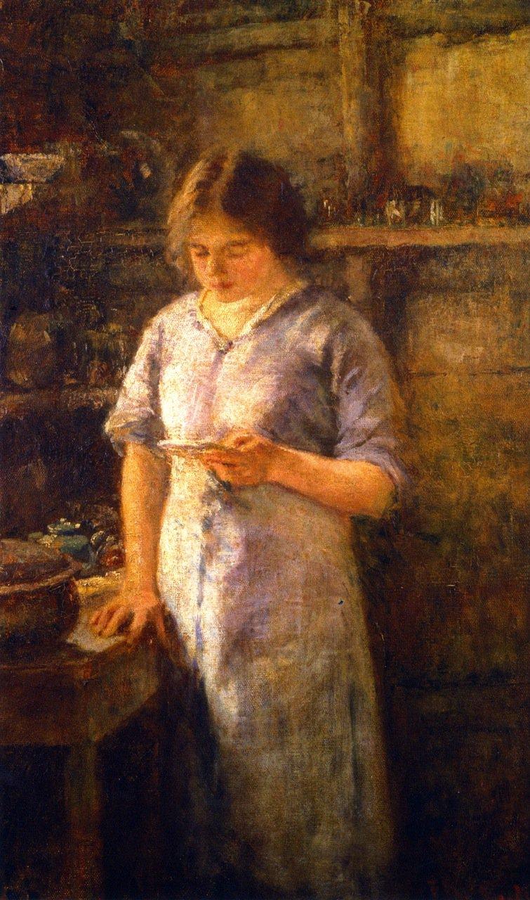 The Recipe   Frederick McCubbin   oil painting