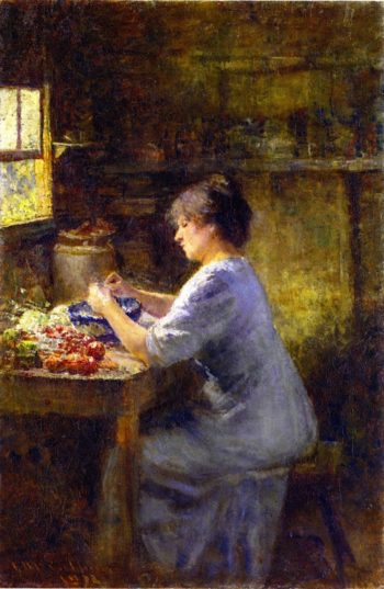 Shelling Peas | Frederick McCubbin | oil painting