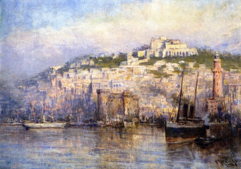 View of Naples   Frederick McCubbin   oil painting