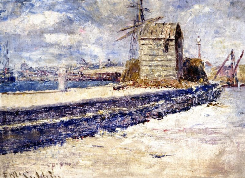 At the Mouth of the River Williamstown | Frederick McCubbin | oil painting