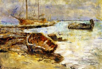Boats at Williamstown Melbourne | Frederick McCubbin | oil painting