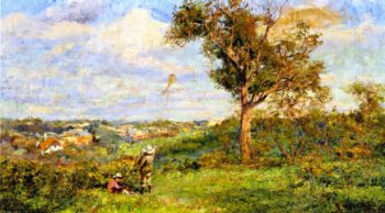 Boy Flying a Kite | Frederick McCubbin | oil painting