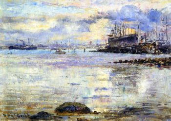 Harmony in Glue Williamstown | Frederick McCubbin | oil painting