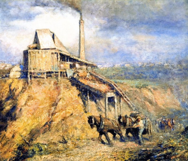 The Old Stone Crusher   Frederick McCubbin   oil painting