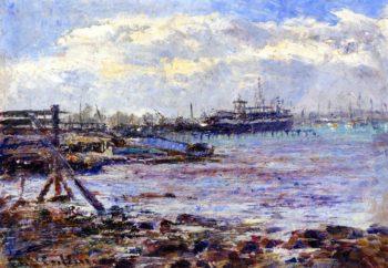 Port of Melbourne | Frederick McCubbin | oil painting