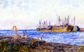Ships Williamstown | Frederick McCubbin | oil painting