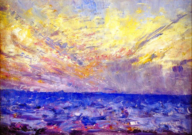 Setting Sun | Frederick McCubbin | oil painting