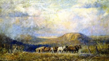 Hauling Timber Macedon Heights | Frederick McCubbin | oil painting