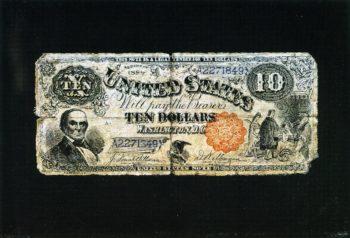 Ten Dollar Bill   Nicholas Alden Brooks   oil painting