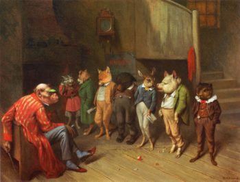 School Rules | william holbrook beard | oil painting