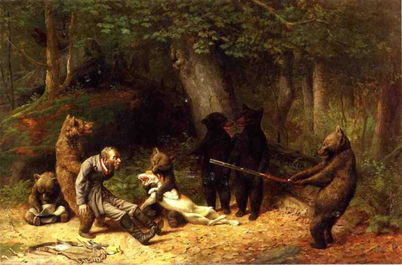 Making Game of the Hunter   william holbrook beard   oil painting