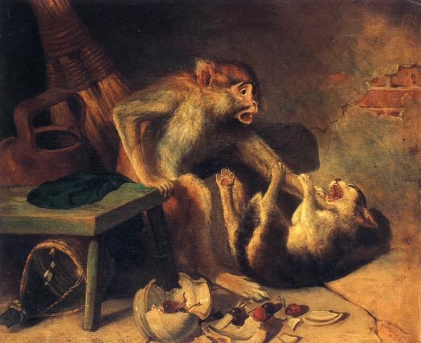 Domestic Squabble | william holbrook beard | oil painting