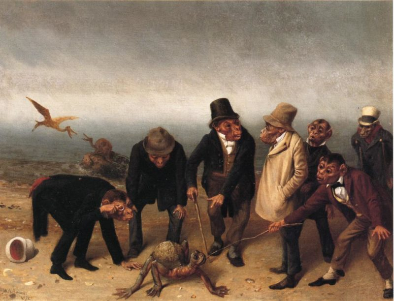 Discovery of Adam | william holbrook beard | oil painting