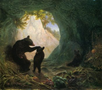 Bear and Cubs | william holbrook beard | oil painting