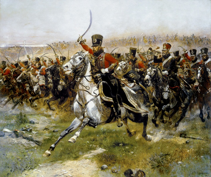 Charge of the 4th Hussars at Battle of Friedland (Vive L Empereur) | Eduard Detaille | oil painting
