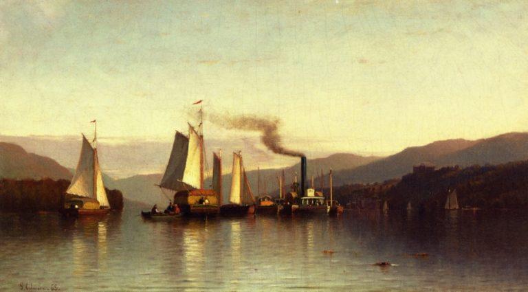 Becalmed in the Highlands | Samuel Colman | oil painting