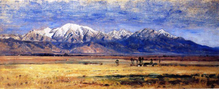 Mt San Antonio San Gabriel Valley | Samuel Colman | oil painting