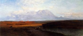 Study for Spanish Peaks Southern Colorado | Samuel Colman | oil painting