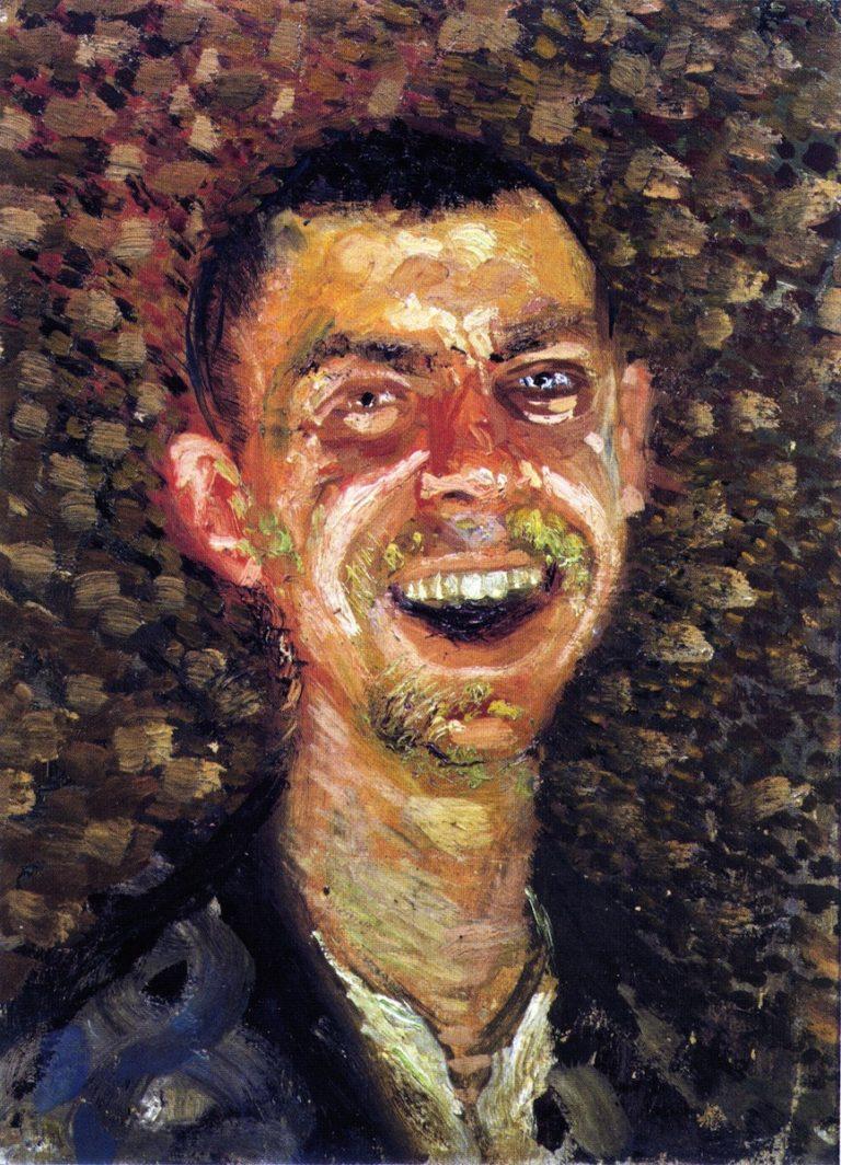 Laughing Self Portrait | Richard Gerstl | oil painting
