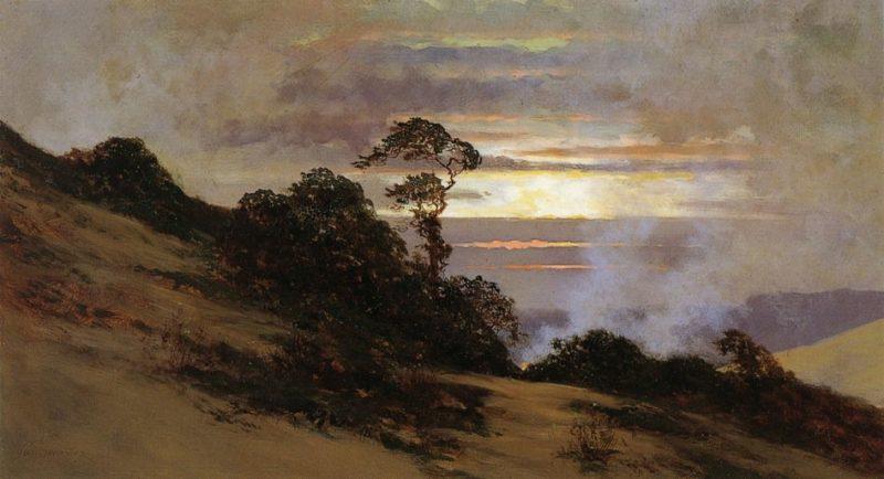 Nocturnal Landscape | Jules Tavernier | oil painting