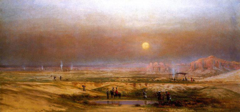 Indian Encampment in the Desert | Jules Tavernier | oil painting