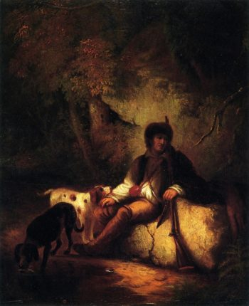 The Tired Hunter | Alvan Fisher | oil painting