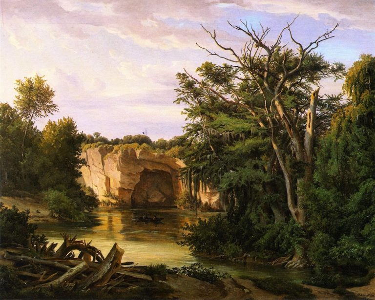 Guadalupe River Landscape   Herman Lungkwitz   oil painting