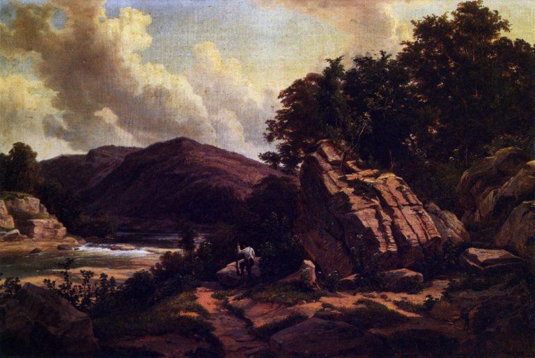 Falls of the Colorado Austin | Herman Lungkwitz | oil painting