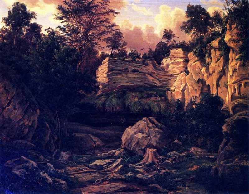 West Cave on the Pedernales | Herman Lungkwitz | oil painting