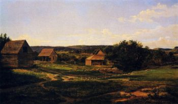 August Schroeter Ranch on the Colorado River | Herman Lungkwitz | oil painting